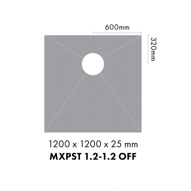 Marmox shower bases - Offset
