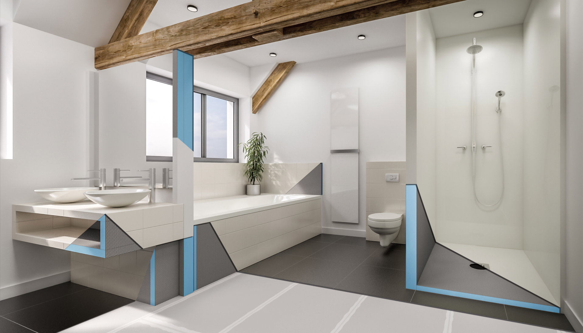 Marmox waterproof insulation boards in the bathroom | Marmox NZ